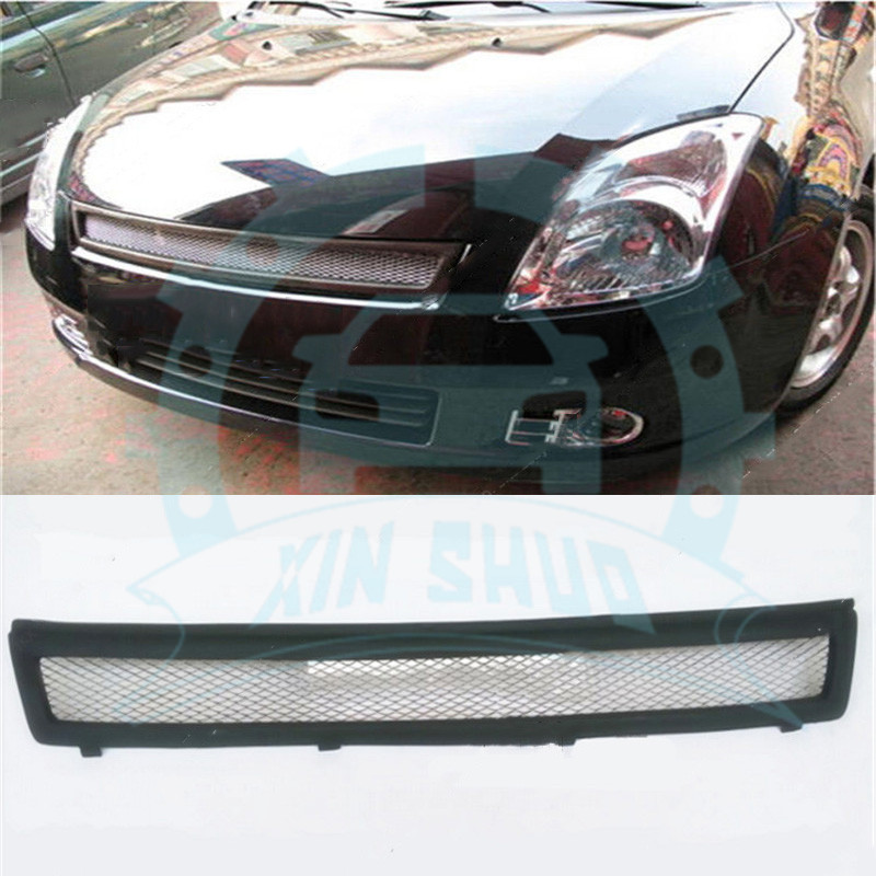 1pc Black Front Bumper Lower Grille Vent Hole Grill For Suzuki Swift 2005-2008