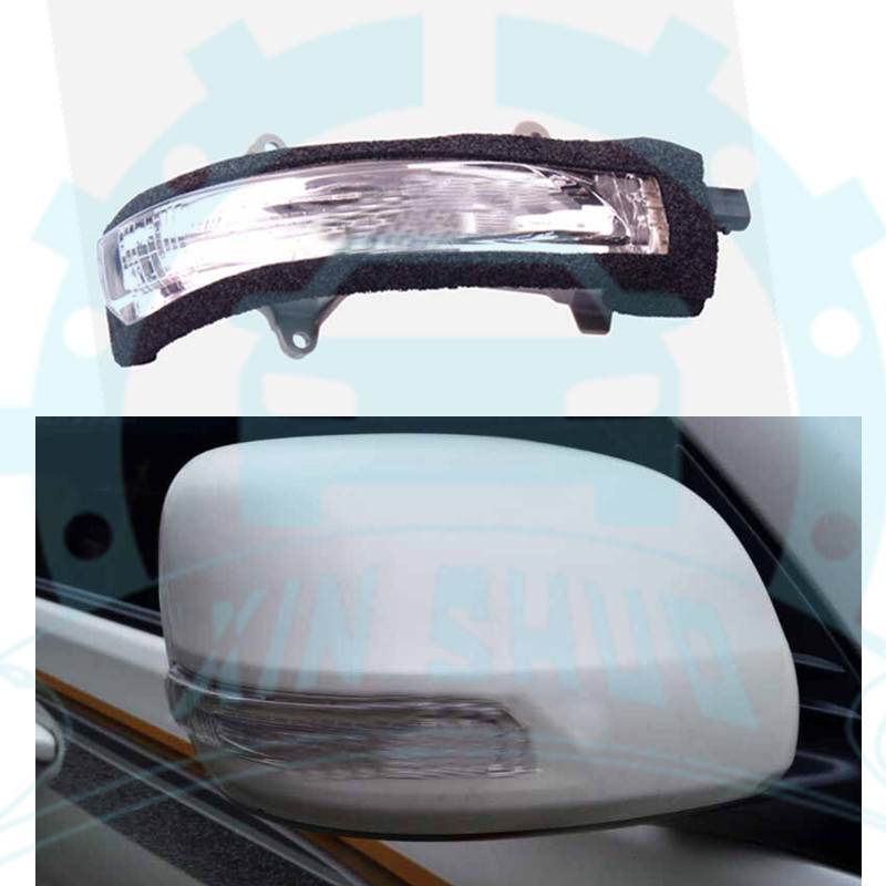 ABS Rear View Side Door Mirror Cover Trim for Land Cruiser 2008-2011 no light
