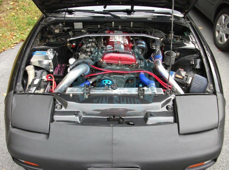 Cooling Panel Slam Radiator Cover For Nissan S13 180SX 200SX FRP Fiberglass