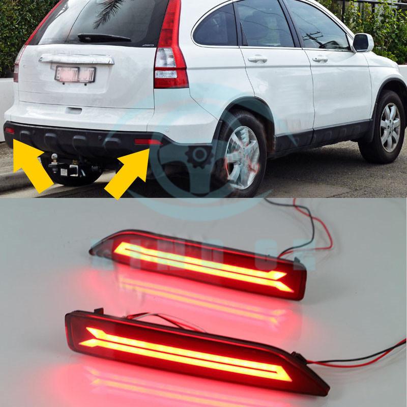 2x Led Rear Lamp Tail Light For Honda Cr V 2007 09 Mobilio 2016 17