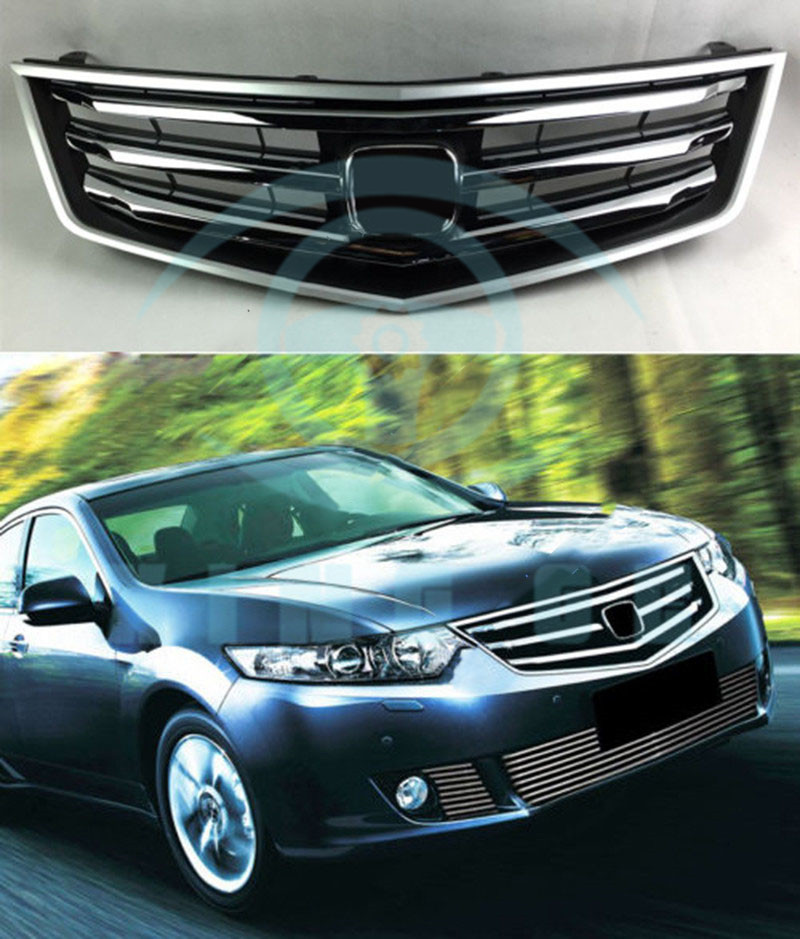 Chrome Front Bumper Middle Vent Grille Fit For Honda Acura