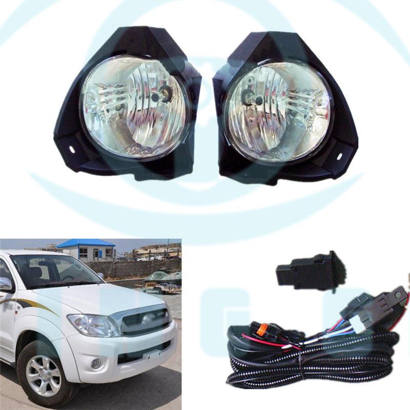 Fog Lights Driving Lamp Cover Switch Kit for Toyota Hilux VIGO 2008-2011 09 10