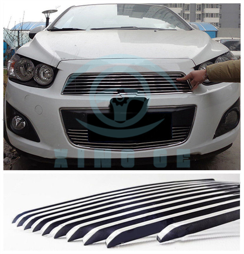 Front Bumper Upperlower Grille Grill Vent Hole For Chevrolet Aveo