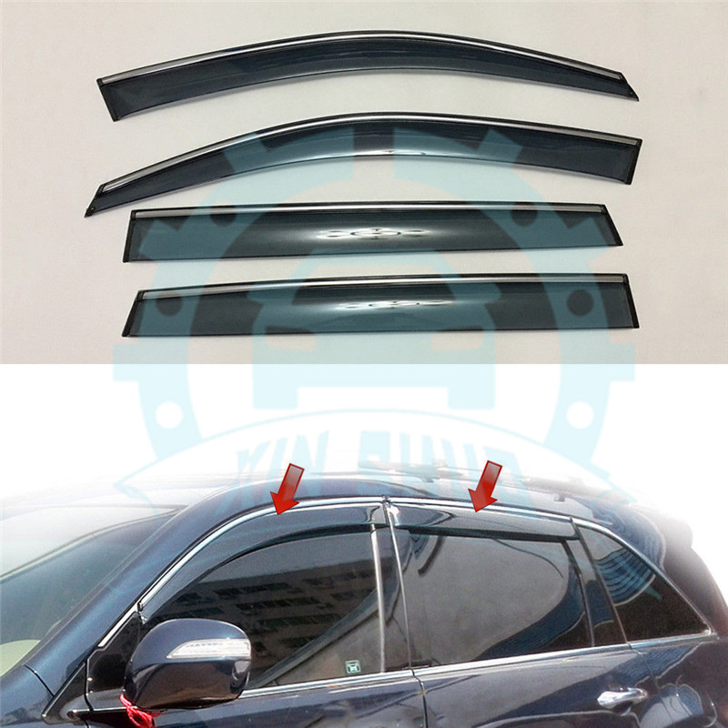 For Acura MDX YD2 2007-2013 Window Sun Rain Visors Vent