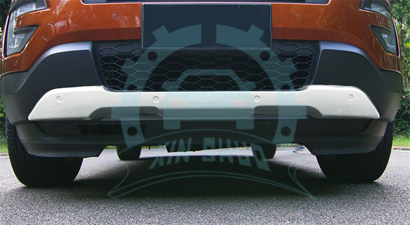 2pcs Front Rear Bumpers Board Guard Skid Plate For Ford