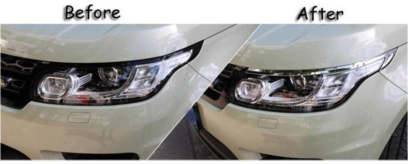 Car Front Head Light Eye Lid Lamp Cover Trim Fit For Range
